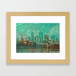 Melbourne Waterfront Abstract Framed Art Print