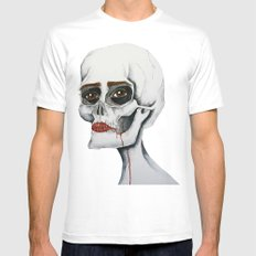 Hannah MEDIUM White Mens Fitted Tee