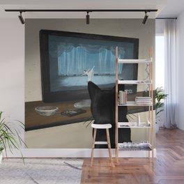 Watching TV Wall Mural