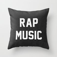 Rap Music Throw Pillow