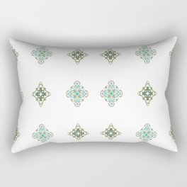 Turquoise With A Tough Of Gold Pattern Rectangular Pillow