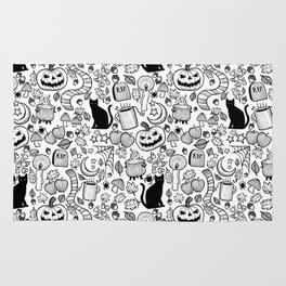 October Pattern- Black & White Rug