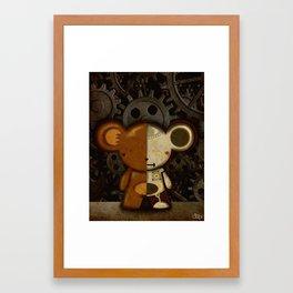 Cyborg Bear Framed Art Print