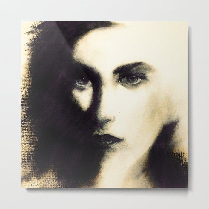 Female Face Study Metal Print