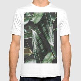 Rubber Plant Black T-shirt