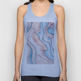 Marble| pink & blue Unisex Tank Top