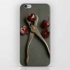 Cherries and Vintage Wrench iPhone & iPod Skin
