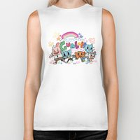 gumball Biker Tanks featuring GUMBALL by Suyeda
