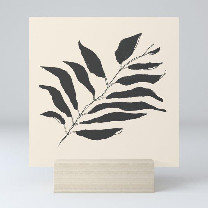 breezy palm Mini Art Print