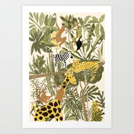 Th Jungle Life Art Print
