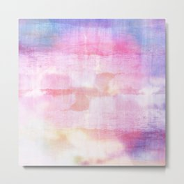 Abstract ocean view in pink and blue Metal Print