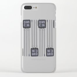 Small transistor DW9 PATTERN2 Clear iPhone Case