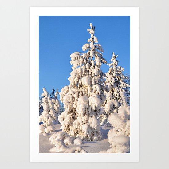 Snow 4 Art Print