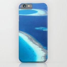 Blue Ocean White Sand Lagoons Maldives Beach iPhone Case