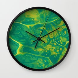 Green #4 Wall Clock