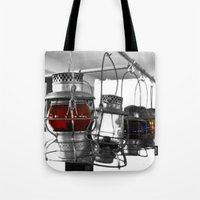 lanterns Tote Bags featuring Lanterns by Raymond Earley