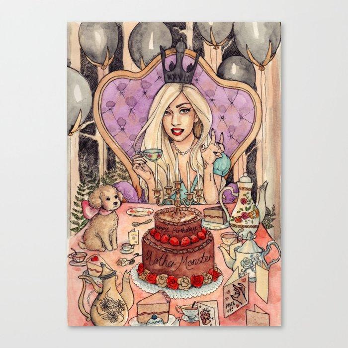 Gaga's Teaparty Canvas Print
