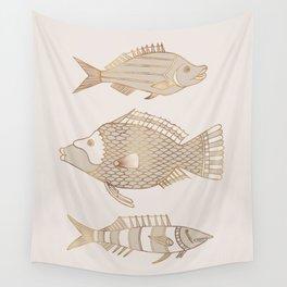 Fantastical Fish 2 - Natural Wall Tapestry