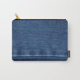 Blue Jean Texture V4 Carry-All Pouch
