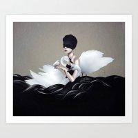 let it go Art Prints featuring Let go by Ruben Ireland