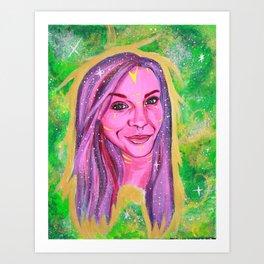 Galaxy Girl Series -4- Tina Art Print