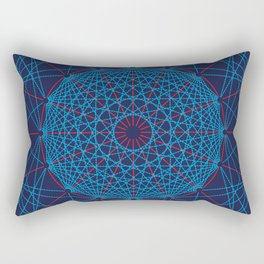 Geometric Circle Blue/Red Rectangular Pillow