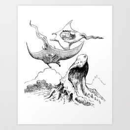 The Battle in the Sky Art Print