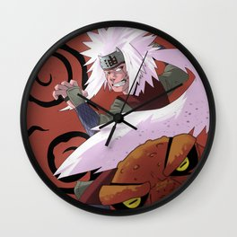 Ero-Sennin! - Jiraya and Gamakichi Wall Clock