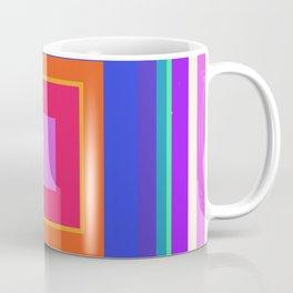 Squares in Purple, Blue, Red, Pink Coffee Mug