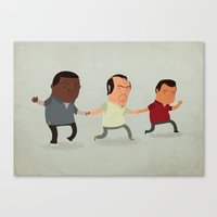 gta v Canvas Prints featuring GTA Friends by Jimmy Rogers