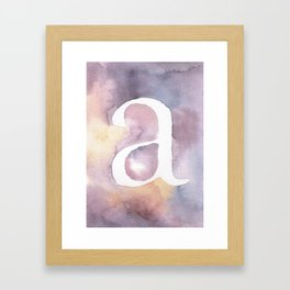 a watercolor Framed Art Print