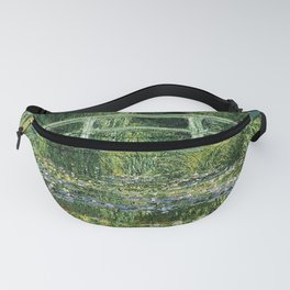 WATER LILLIES AND JAPANESE BRIDGE - CLAUDE MONET Fanny Pack