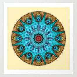 Mandalas from the Heart of Surrender 6 Art Print