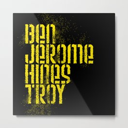 Ben Jerome Hines Troy / Black Metal Print