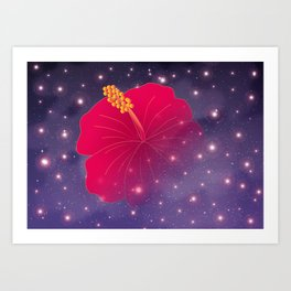 Hibiscus in Universe_R Art Print