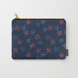 Stars in blue and red Carry-All Pouch