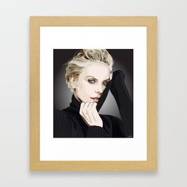 "Charlize Theron ""Rotoscoping"" Framed Art Print"