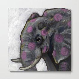 Spotted Elephant Metal Print
