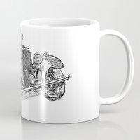 car Mugs featuring car by Puti Wen