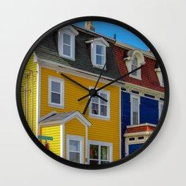 Jellybean Row Wall Clock
