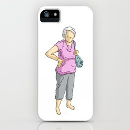 A lady iPhone Case