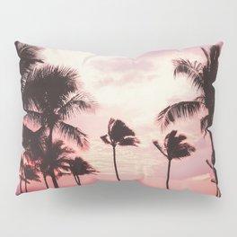 Tropical Palm Tree Pink Sunset Pillow Sham
