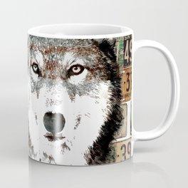 Industrial Woodland Wolf Coffee Mug