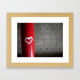 Love in a Stairwell Framed Art Print
