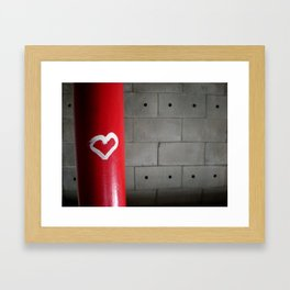 Love in a Stairwell Framed Art Print