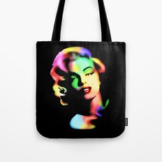 Marilyn Monroe Rainbow Colors  Tote Bag