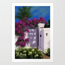 Santa Barbara Bougainvillea DP150606a Art Print