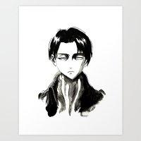 levi Art Prints featuring Captain Levi by anna zoladz