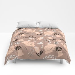 Rabbits and Flowers 008 Comforters