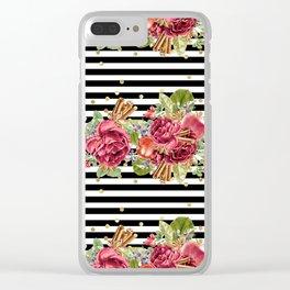 Elegant Christmas - apple, cinnamon & rose Clear iPhone Case